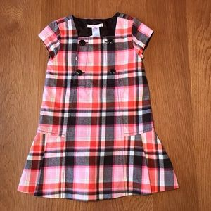 Janie and Jack plaid pleated dress